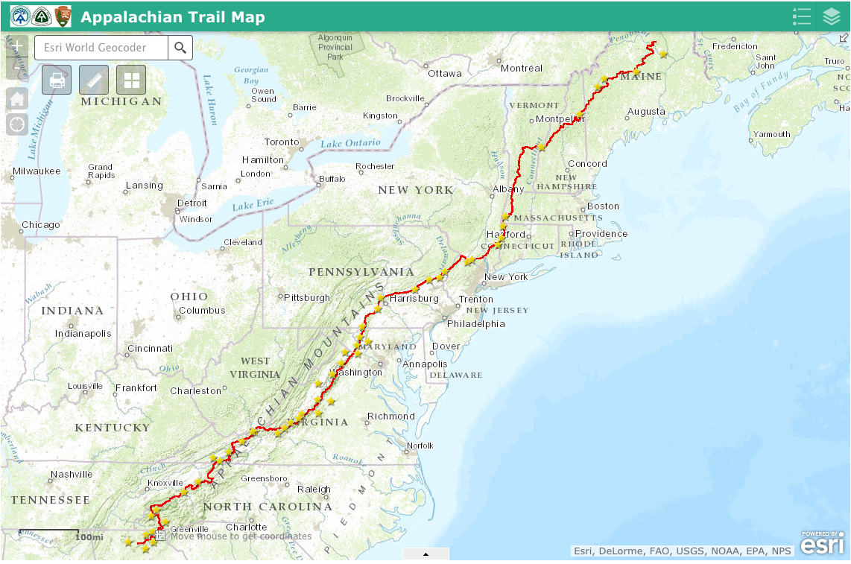 Appalachian Trail Map - Appalachian Trail Guide